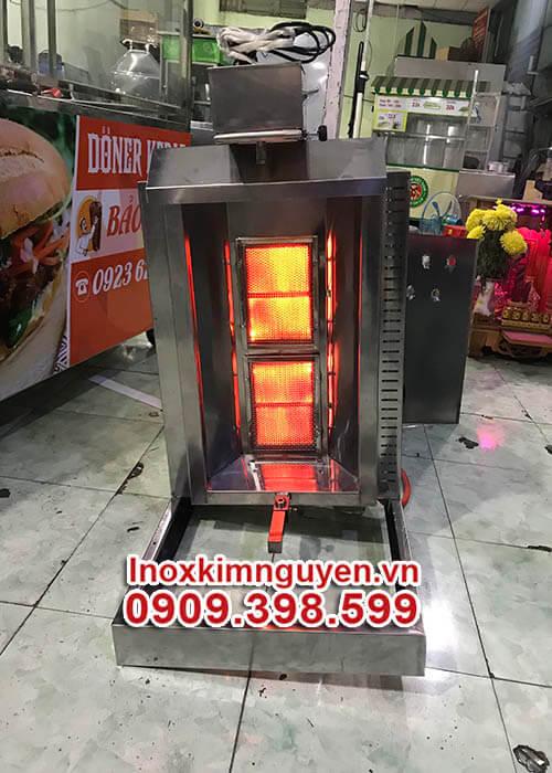 lò-nướng-bánh-mì-kebab-đốt-nóng