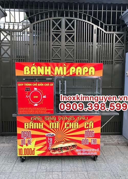 Xe Bánh Mì Chả Cá Đẹp 1M4
