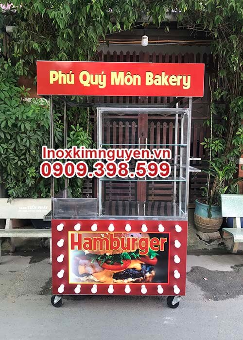 Xe Bánh Mì Hamburger 1m2