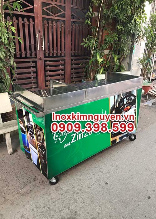 Mẫu Xe Đẩy Cafe Mang Đi 1M