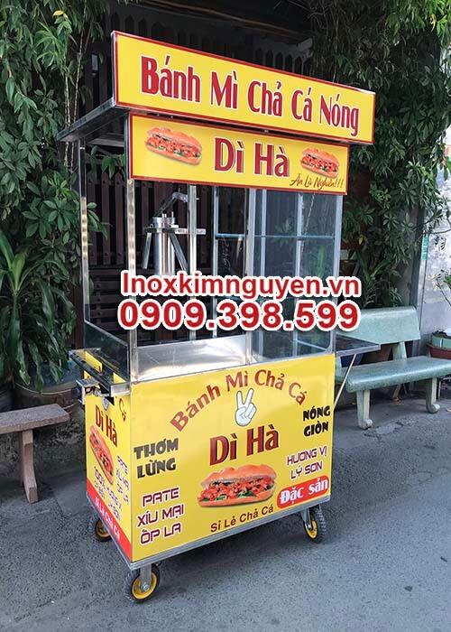 Mua xe bán bánh mì chả cá nóng tại hcm