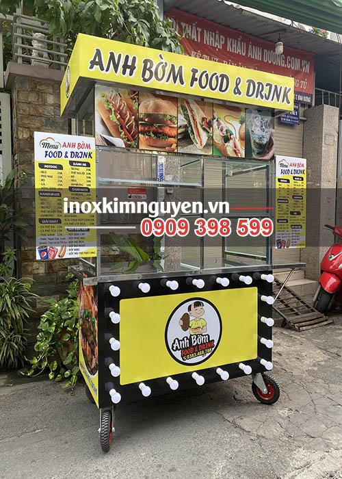 Xe bánh mì inox Kim Nguyên